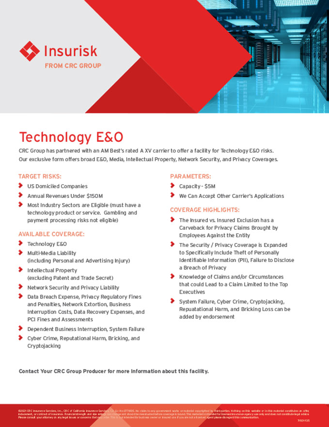Exclusive Insurance Programs - Insurisk | CRC Group